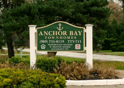 Anchor Bay Monument Sign